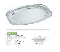 WB-550椭圆形铝箔盘 打包烤鱼盘 厂家低价直销
