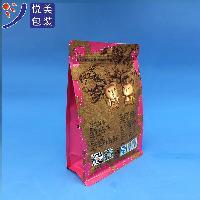 八边封平底袋厂家|自封自立茶叶包装袋|凹印铝箔