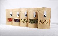 皮紙包裝袋堅果包裝袋休閑防油真空食品零食袋定制