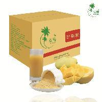 双椰芒果粉 新鲜芒果生产 固体饮料五谷代餐粉原料