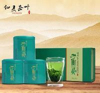 仙靈茶葉春茶葉有機綠茶特級嫩芽茶葉禮盒裝