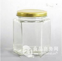 六棱蜂蜜瓶,果酱玻璃瓶,方形玻璃瓶