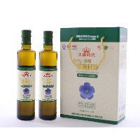 大康时代亚麻籽油500mlx2瓶礼盒装
